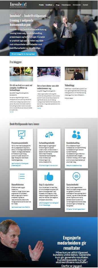 Design av Involvér! sin nye web
